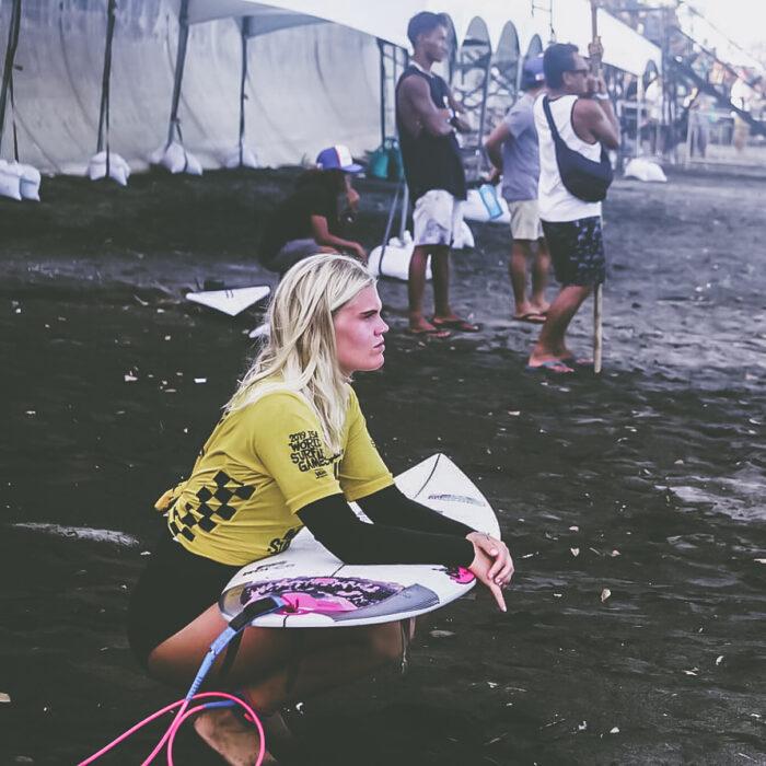 Emmy Wilen Surfing